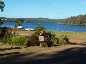 Rest Point caravan park is right on this inlet - stunning.
