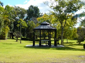 One of many gazebos in the park.