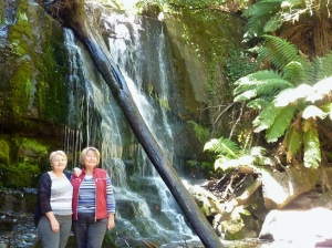 Wendy and I at Lilydale Falls.