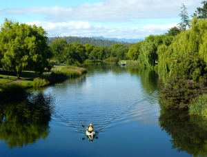 Meander River from bridge in Deloraine.