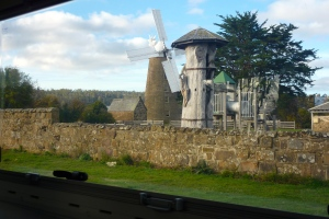 View from our rear window of the flour mill