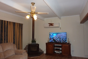 The heat pump looks much better on white walls. The Eagle was only temporary for today's football final.