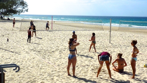 Volley Ball on the beach.
