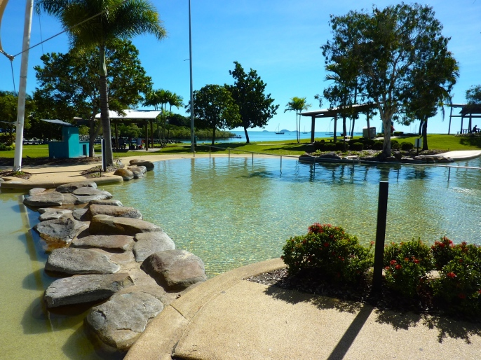 One of several free public swimming lagoons.