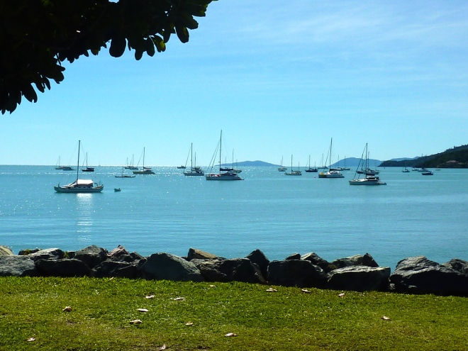 Calm and tranquil Airlie Beach.