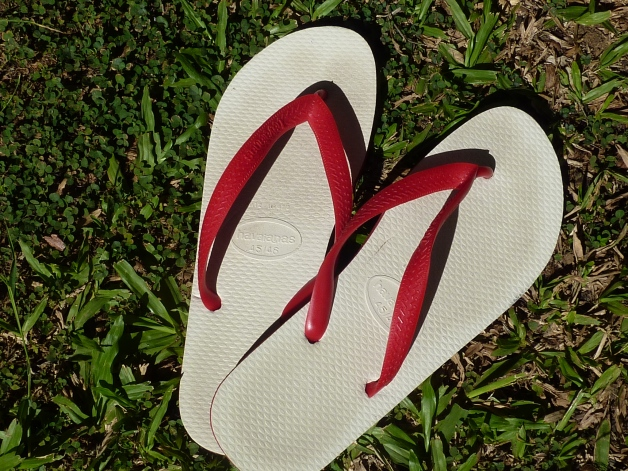 Aussie thongs - worn on the feet, not the bum!