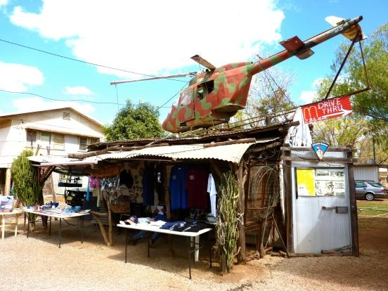Outback souvenir shop.
