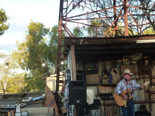 Loved this photo - outback stage with water tower and gum trees in the background.