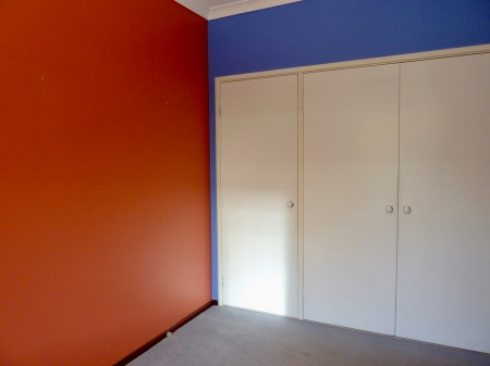 Brightly coloured walls.