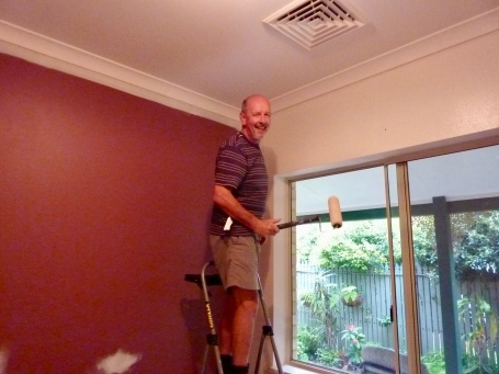 Paul busy changing bright to white.