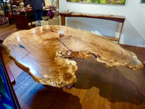 A $25,000 Marri Burl table - stuff of dreams.