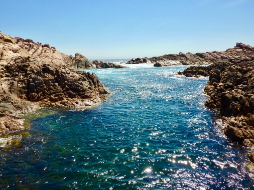 Sparkling waters at Canal Rocks.