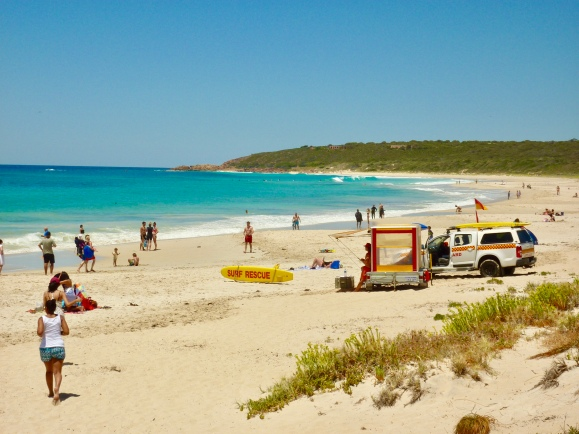 Beach goers at Bunker Bay being equally well looked after.