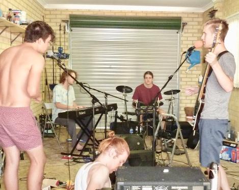 Garage rehearsals.
